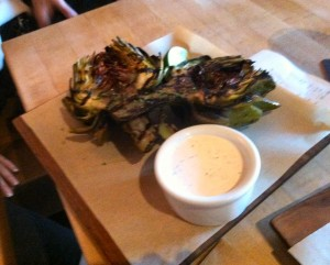 Grilled Artichokes at Laurel Tavern