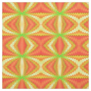 Groovy Orange Yellow Fabric