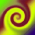 Groovy Yellow Brown Swirl